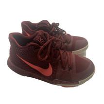 Nike Kyrie 3 Basketball Shoes 859466-681 Hot Punch Burgundy Boy's Youth Sz 4.5Y - $14.00