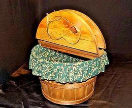 Picnic BasketAA18-1230 Vintage Handmade Lined Woven image 5