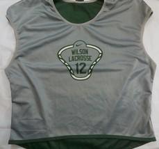 Nike Wilson Lacrosse Reversible Jersey Size Large Unisex Green Gray Whit... - $17.99