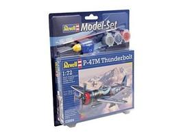 Revell Revell63984 P-47m Thunderbolt Model Set (67-piece) #cgi - $20.29