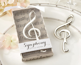 1 Symphony Music Note Wine Bottle Opener Wedding Favor Chrome Reception ... - $3.98