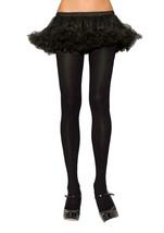 Leg Avenue Plus Size Nylon Spandex Tights Women's Costumes Accessory BLACK - $8.11
