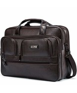 Briefcases for Men Leather 15.6 inch Laptop Bag Large Capacity Travel Bu... - $51.55