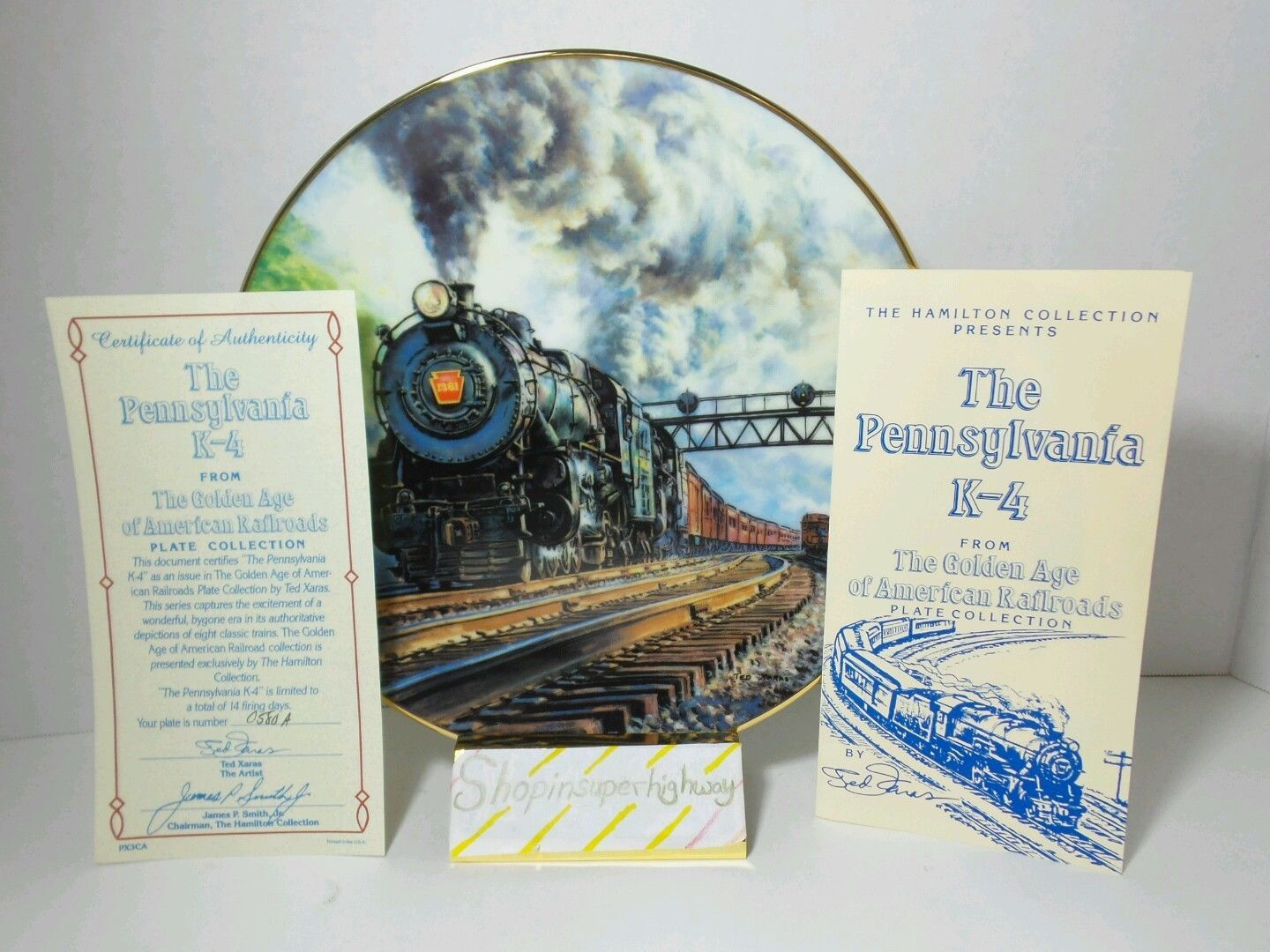 The Pennsylvania K-4 Golden Age American Railroads Collectible Plate Ted Xaras