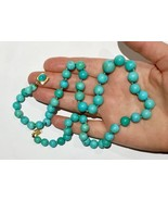 Robin egg natural Untreated turquoise 14k gold necklace - $11,875.00