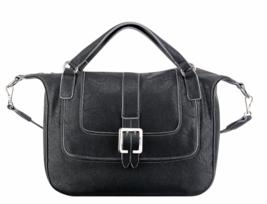 NINE WEST Lush Life NWT Satchel Black Handbag Crossbody Large Top Zip - $39.35