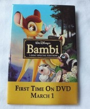 Vintage Disney Bambi Movie Pinback Button Collectible - $15.51