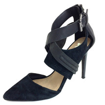 Sz 8.5 Joe's Jeans Black Alyson Suede Pointed Toe Strappy Ankle Detail H... - $73.26