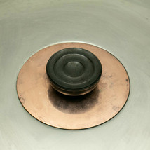 DEJERE RIVIERA Stain Stainless w/ Copper REPLACEMENT LID for 9 3/4 in Po... - $10.77