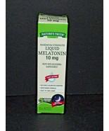 Nature's Truth Maximum Strength Liquid Melatonin 10 mg 2 Fl Oz 11/2021 N... - $17.81