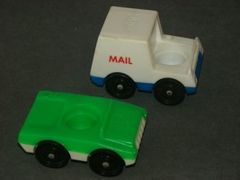 Fisher Price Little People: 2 Vehicles Passenger Car + Mail Truck - $10.00