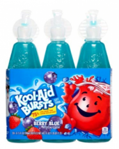 Kool Aid Bursts Berry Blue Fruit Juice Drink Kids Low Sugar 6.75 fl oz -... - $11.60
