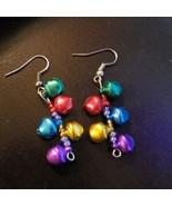 Handmade Christmas Jingle Bell Dangle Earrings - $9.99