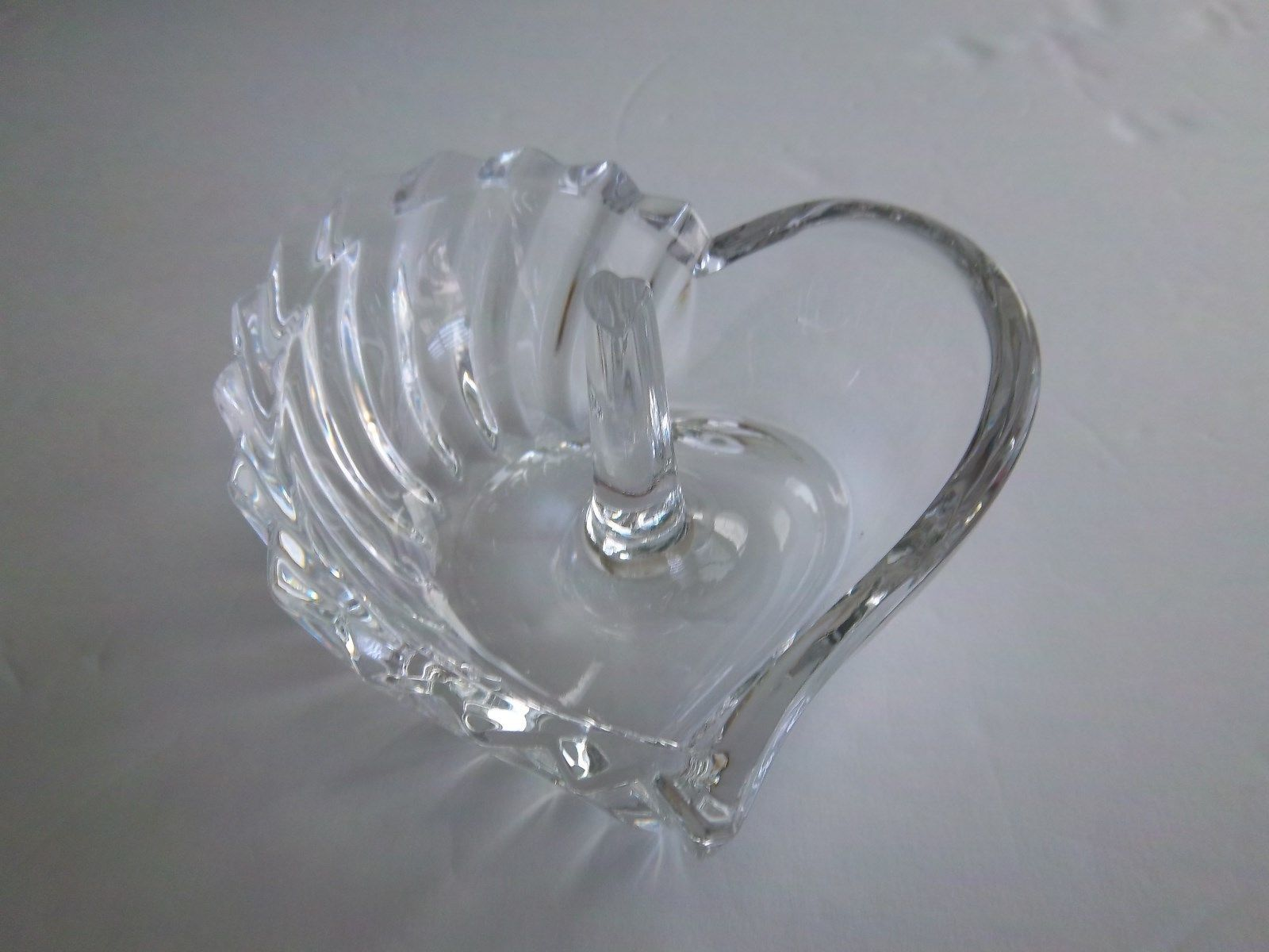 Gorham Esprit Ring Holder Heart Shaped Clear Crystal Made in Germany C342