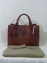 AUTH NWT Bottega Veneta Medium Roma Bag In Russet Intrecciato Calf Leather image 3