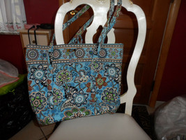 -Vera Bradley XL toggle tote in Bali Blue - $52.00