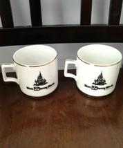 Set of 2 Vintage Walt Disney World Coffee Mug Cinderellas Castle 1980s  - $27.10