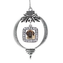 Inspired Silver Mastiff Face Classic Holiday Ornament - €13,13 EUR
