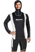 Mares Men's Fire Skin Long Sleeve Hooded Vest Watersport Protection Gear, X-Larg