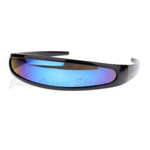 Cyclops Robot Costume Sunglasses Party Rave Futuristic Mirror Lens - $9.95