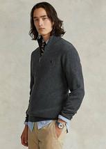 Polo Ralph Lauren Men's Wool-Cashmere Quarter-Zip Sweater Charcoal Heath... - $89.99