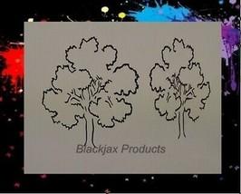 "NEW! 15""x12"" Stencil Trees Set 02 Airbrush Stencil, Template - $15.88"