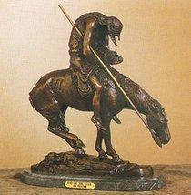 Artistic Solutions End of the Trail Unique Handmade Solid Bronze Sculpture Statu - $1,810.98
