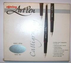 Rotring ArtPen calligraphy fountain pen set art. R 250 290 boxed - $90.00