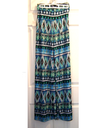 Women's Superline Blue Print Palazzo High Waist Stretch Knit Pant Wide L... - $19.99