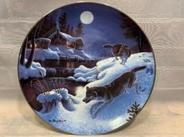 WINTER PASSAGE Nightwatch #3781B 1994 Bradford Exchange Plate Wolf Wolves - $24.74
