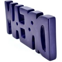 Vaneal Group Hand Carved Soapstone Purple DREAM Standing Word Paperweight image 4