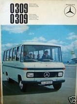 1967 mercedes 0309   BUS  OWNERS SALES BROCHURE  SERVICE PARTS - $39.99