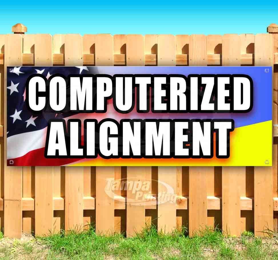 Primary image for COMPUTERIZED ALIGNMENT Advertising Vinyl Banner Flag Sign Many Sizes MECHANIC
