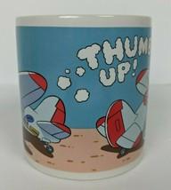 Vintage Walt Disney Goofy Airplane Pilot Coffee Mug Skywriter Thumbs Up ... - $24.75