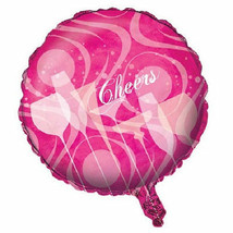 "Fabulous Pink Cocktail Drink Birthday Party 18"" Foil Balloon Mylar - $3.99"