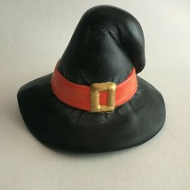 """VINTAGE HALLOWEEN CERAMIC WITCH HAT WITH BUCKLE 4.5"""" X 5"""" Decoration - $10.64"""