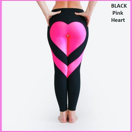 Love Heart Bottom Ladies High Waist Skin Tight Stretch Yoga Workout Leggings