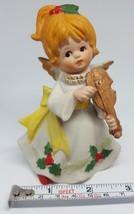 Vintage Homco 5551 Ceramic Christmas Xmas Figurine Angel W Violin • With Defect - $15.79