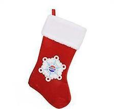 "19.25"" Decorative Pepsi Snowflake Embroidered Christmas Stocking w - $16.99"