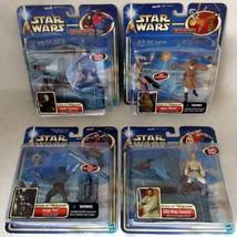 Star Wars AOTC 4 Figure Set Obi-Wan Kenobi Mace Windu Jango Fett Darth T... - $59.39