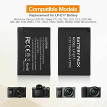 LP-E17 Replacement Camera 2 Batteries and Charger Set for Canon and More Models - $27.33