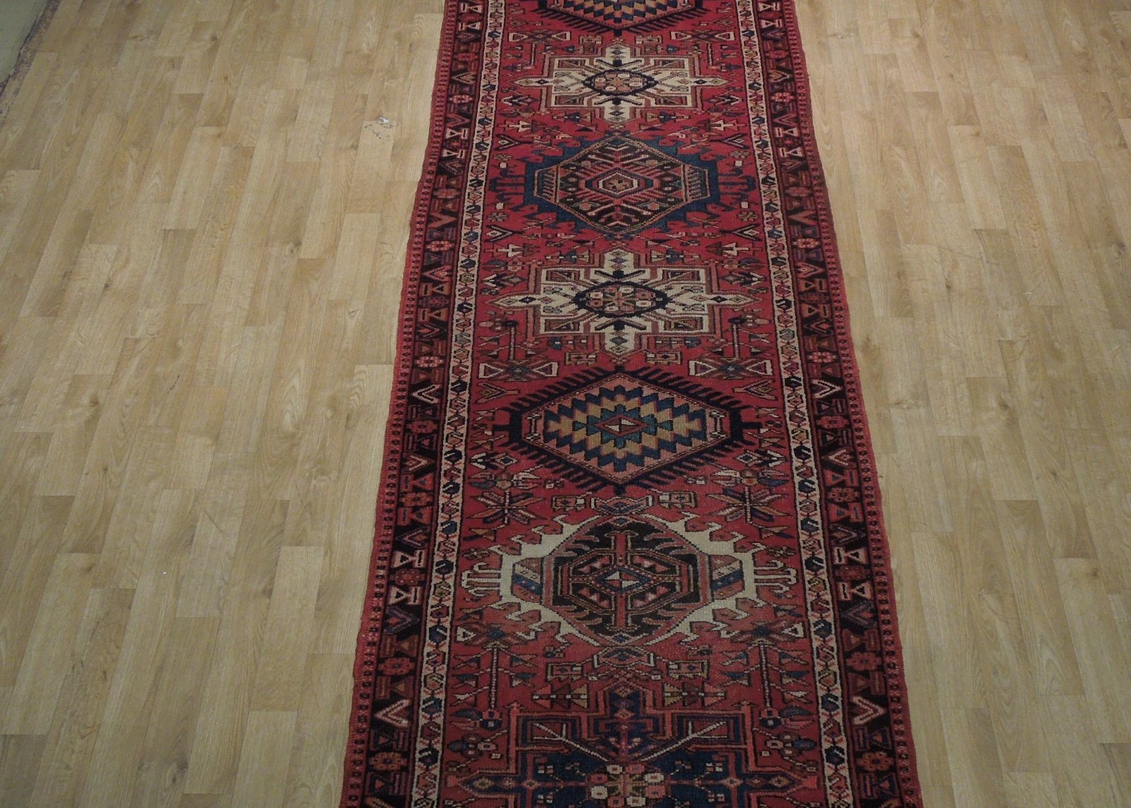 Red 3 x 13 All-Over Classic Tribal Design Runner Karaja Persian Handmade Rug image 12