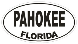 Pahokee Florida Oval Bumper Sticker or Helmet Sticker D1579 Euro Oval - $1.39+