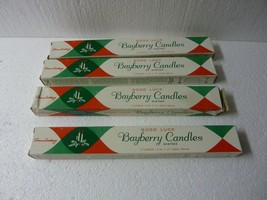 """NOS VINTAGE GOOD LUCK BAYBERRY STICK CANDLES 12"""" CANDLE-LITE 4 BOXES 8  ... - $26.11"""