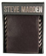 NEW STEVE MADDEN MEN'S PREMIUM LEATHER CREDIT CARD WALLET BROWN N80005/01