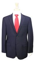 * HICKEY-FREEMAN * Recent Milburn Model Solid Navy Blue 2-Btn Wool Suit 38S - $206.50