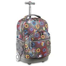 J World New York Sunrise Rolling Backpack, Blazing Owl - $62.76