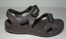 Crocs Size 7 Swiftwater River Brown Black Sport Sandals New Women's Shoes - $78.21