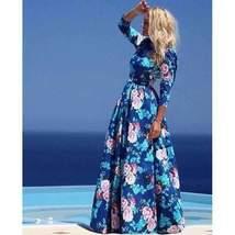 Bohemian Floral Print Maxi Dress - $25.17