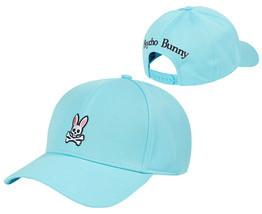 Psycho Bunny Men's Sport Pique Snapback Baseball Cap Hat (Med Blue)